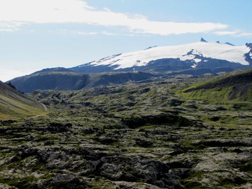 Snæfellsjökull og hraun